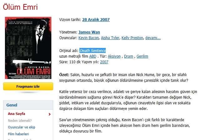 Ölüm Emri - 2007 DVDRip XviD - Türkçe Altyazılı indir
