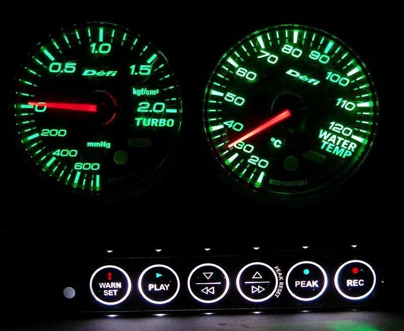 DEFI 2x 60mm gauges Boost+Temp+Control unit II S13 S14 R33 RX7 S