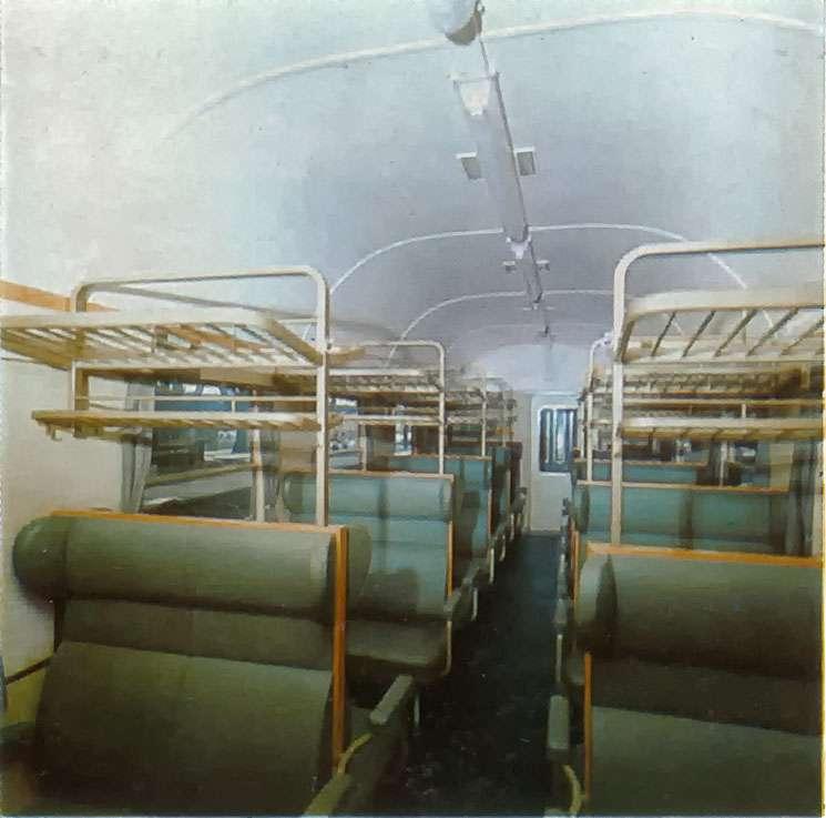 Inneneinrichtung LS-Wagen aus einem alten DB-Prospekt