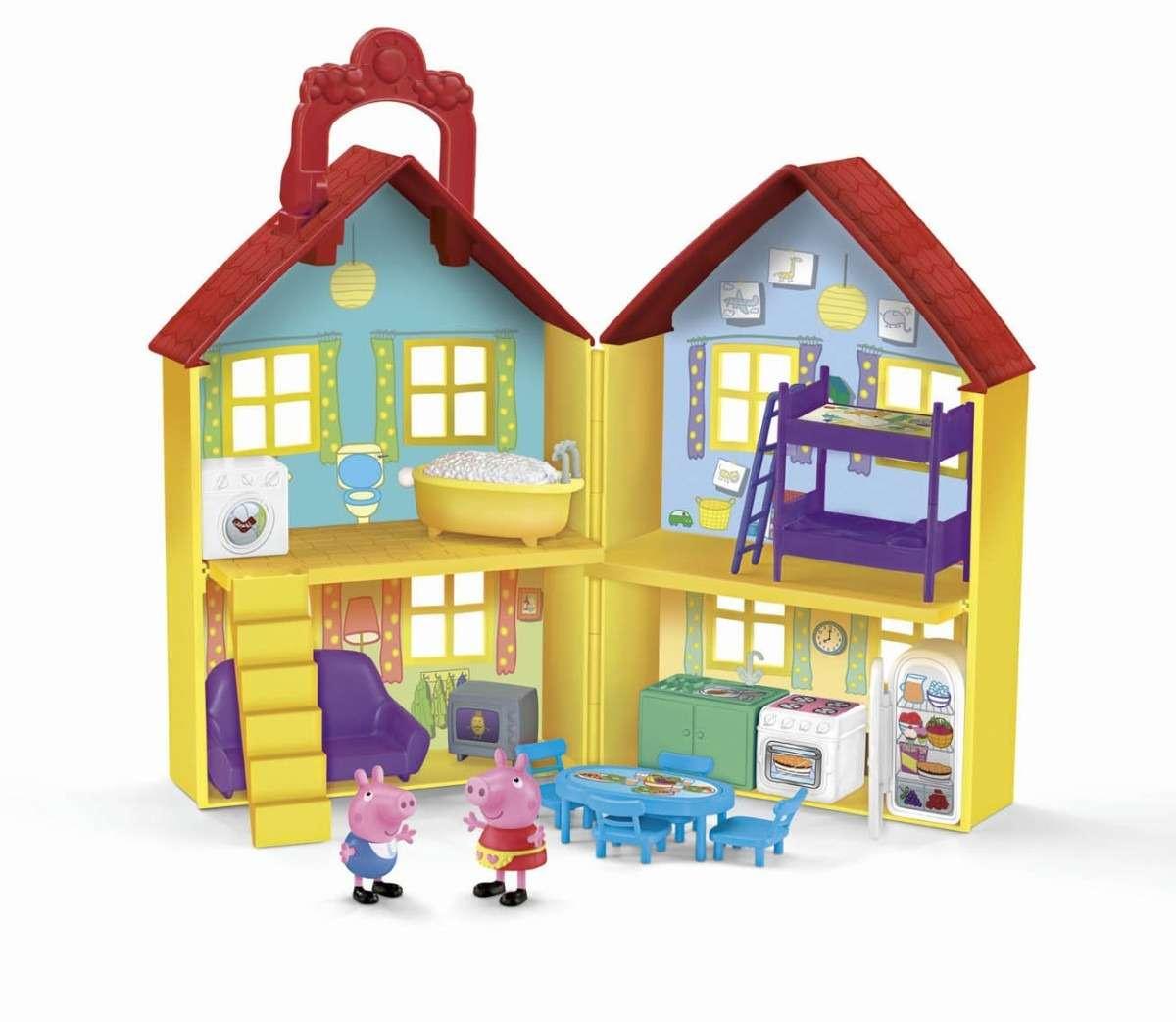 peppa pig casita de juegos casa de sorpresa set pmo. Black Bedroom Furniture Sets. Home Design Ideas