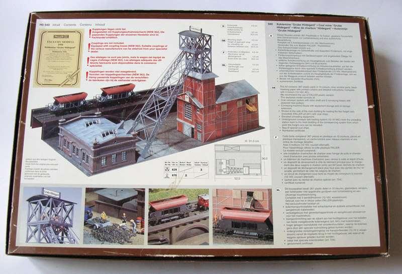 Faller Exclusive Model 940 Ho H0 Kit Coal Mine Hildegard